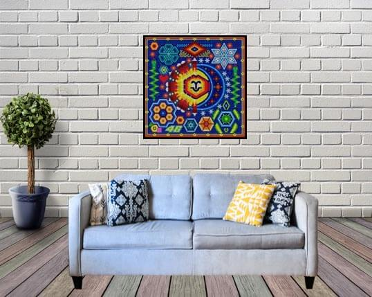 Huichol Winter frame