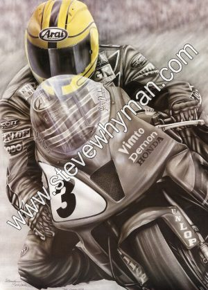 Joey Dunlop Yellow Helmet