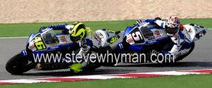 Team mates Steve Whyman