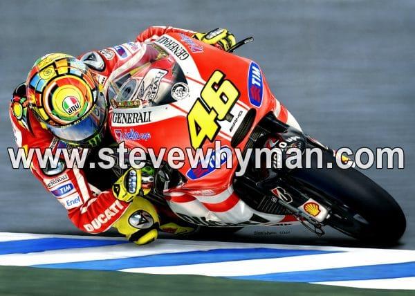 Valentino Rossi Ducati Track