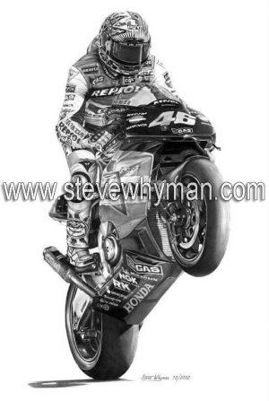 Valentino Rossi Repsol Wheelie
