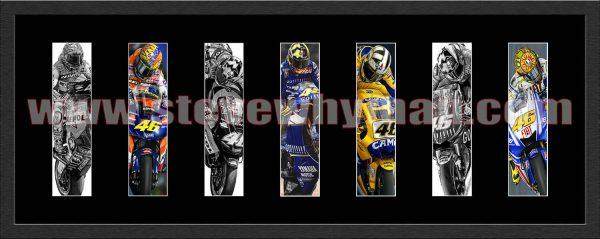 Valentino Rossi Septych 1