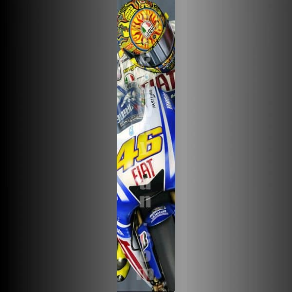 Valentino Rossi on the edge slimpic