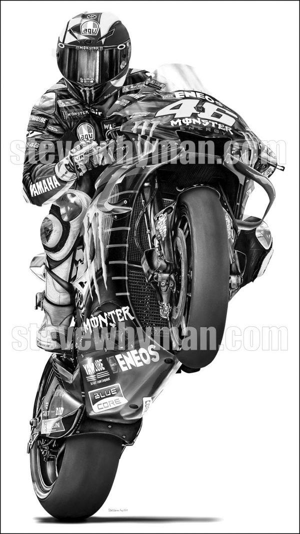 Rossi Wheelie 2019 black & white