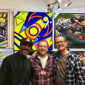 Steve with Danny John-Jules and Steve Keys