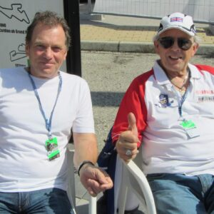 Steve catching up with Phil Read in Misano